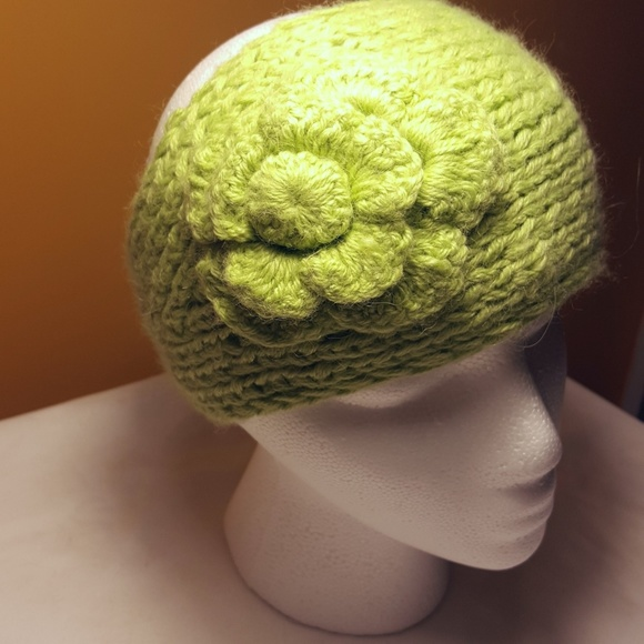 Accessories - Crochet Knit Flower Headband